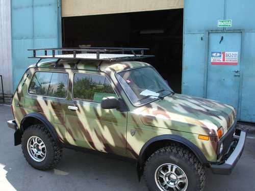 """Экспедиционный багажник """"Lada 4x4"""" (5 дв.) (8 опор крепления). Основание: алюминиевый лист"""
