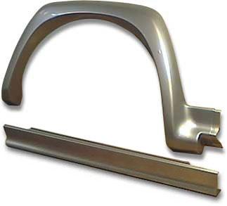 Накладки арок колес и порогов Ф02 для пятидверки (комплект)