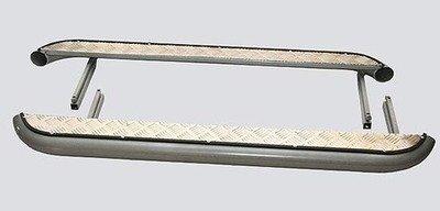 Пороги (к-т) с алюминиевым листом, Диаметр=63,5мм (3дв., Urban 3дв.)