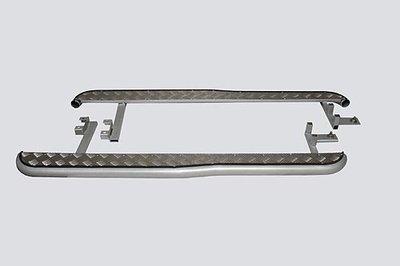 Пороги с алюминиевым листом с перегибом. Chevrolet Niva (- 03.2009)