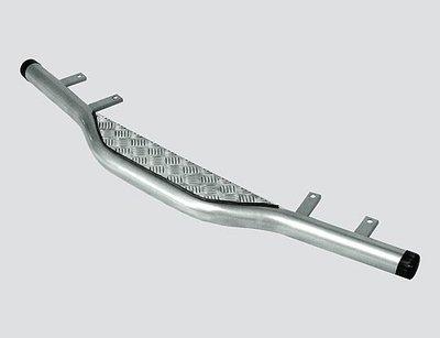 Защита заднего бампера с алюминиевым листом, Chevrolet Niva (- 03.2009)