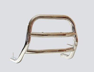 Защита переда «Высокая с 2-мя перемычками» (Ø=63,5 мм), Chevrolet Niva (- 03.2009) (нержавеющая сталь)