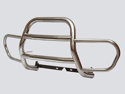Защита переда «С ушами» (Ø=63,5 мм), Chevrolet Niva (- 03.2009) (нержавеющая сталь)