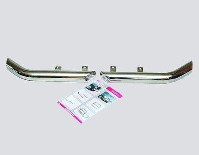 Защита заднего бампера «Уголки Люкс», цельные (Ø=63,5 мм), Chevrolet Niva (- 03.2009) (нержавеющая сталь)