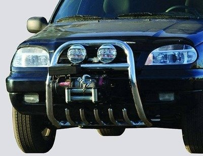 Защита переда под лебедку (Ø=63,5 мм) Chevrolet Niva (- 03.2009) (нержавеющая сталь)