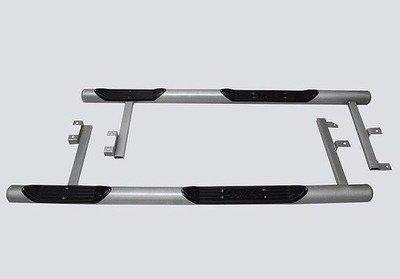 Пороги «Труба с проступью» с металлической заглушкой, Chevrolet Niva (03.2009 -)/Lada Niva (07.2020 -), Niva Travel