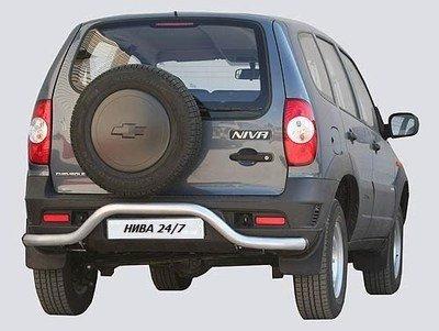 Защита заднего бампера без проступи «Волна», Chevrolet Niva (03.2009 -)/Lada Niva (07.2020 -)
