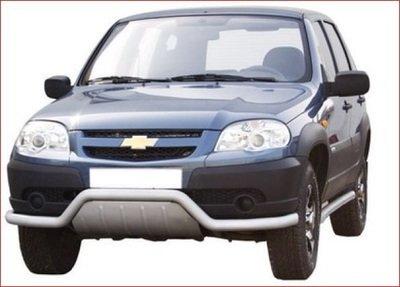 Передок «Волна», с дополнительной защитой двигателя (Ø=63.5) Chevrolet Niva (03.2009 -)/Lada Niva (07.2020 -)