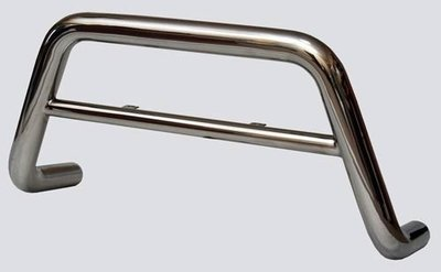 Защита переда «Низкая» (Ø=63,5 мм), Chevrolet Niva (03.2009 -)/Lada Niva (07.2020 -) (нержавеющая сталь)