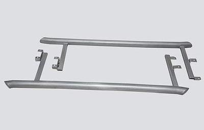 Пороги «Труба изогнутая», Chevrolet Niva (03.2009 -)/Lada Niva (07.2020 -),  Niva Travel (нержавеющая сталь)