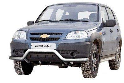 Защита перед. бампера «Волна», Chevrolet Niva (03.2009 -)/Lada Niva (07.2020 -) (нержавеющая сталь)