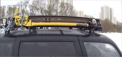 Багажник экспедиционный с дюралюминиевой площадкой (грузоподъёмностью до 200 кг)