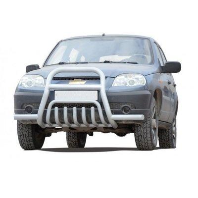 Передок с дополнительной защитой двигателя «Труба сверху с усами», Chevrolet Niva (03.2009 -)/Lada Niva (07.2020 -)