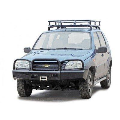 Бампер передний силовой под лебедку с защитными дугами  Chevrolet Niva/Lada Niva (07.2020 -)