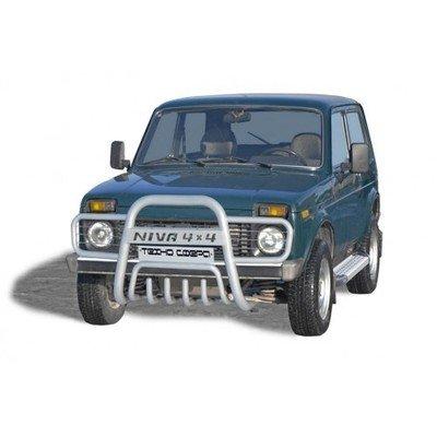 Дуга передняя «Нива 4х4 прямая с ушами» с дополнительной защитой двигателя Диаметр=63,5   (3 дв./5дв.)