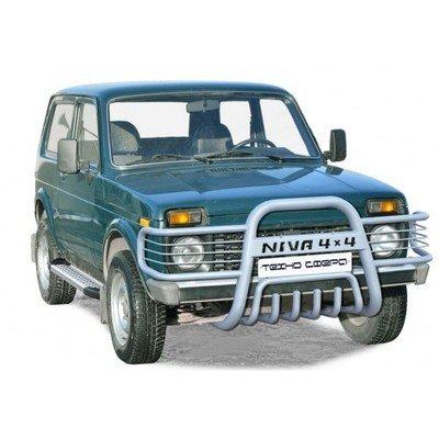 Дуга передняя «Нива 4х4 с ушами» с дополнительной защитой двигателя Диаметр=63,5 (3 дв./5дв.)