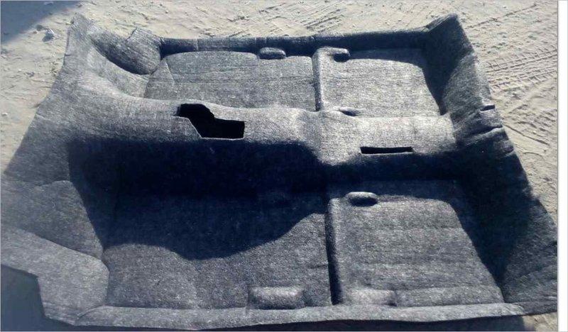 Шумоизоляция ковро-формованная по днищу кузова. 3-х дв. LADA 4x4