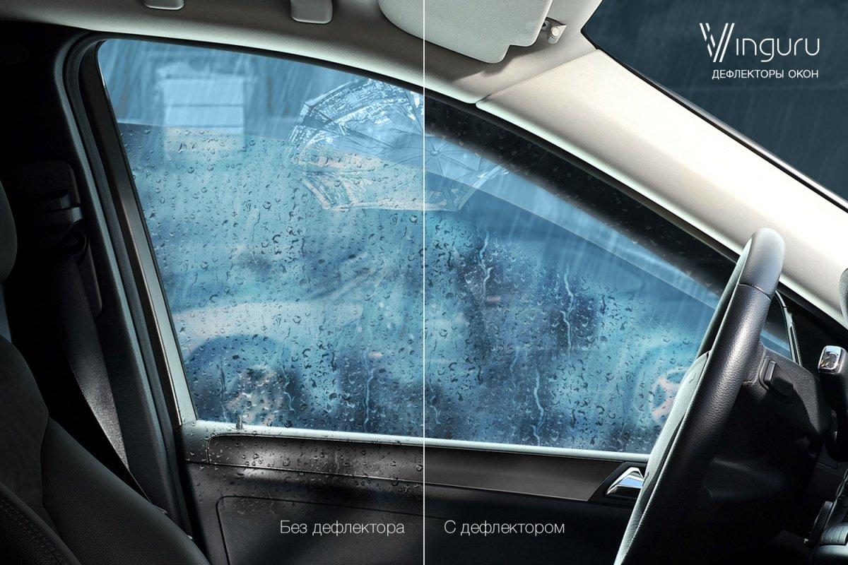 """Накладные дефлекторы дверей """"Lada 4x4"""" """"Сабля Рубит дождь и ветер"""" (3дв / 5дв)"""