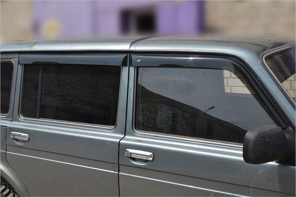 Накладные дефлекторы дверей Lada Niva 4x4. 5- дверная