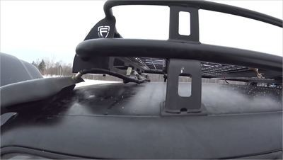 Электрический жгут для установки двух фар, на экспедиционном багажнике