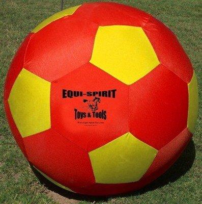 """Equi-Spirit 25"""" Ultimate Cordura Ball Red/Yellow"""