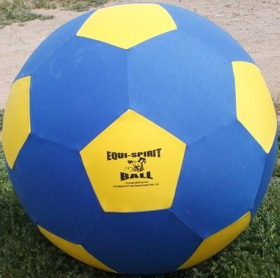 Equi-Spirit 40inch ULTIMATE Cordura Ball Blue/Yellow