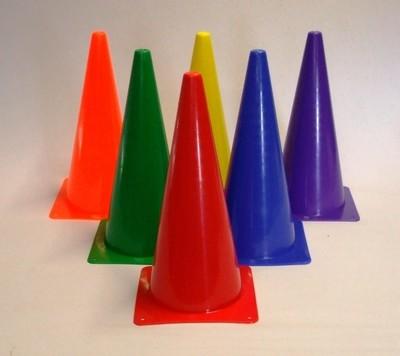 Equi-Spirit Rainbow Rigid Plastic Cones