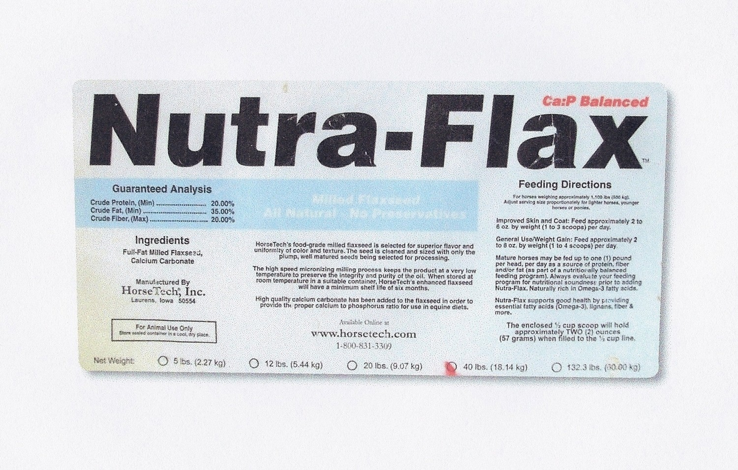 Nutra Flax by Horse Tech 40 Lbs