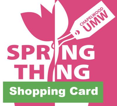 Spring Thing Shopping Card