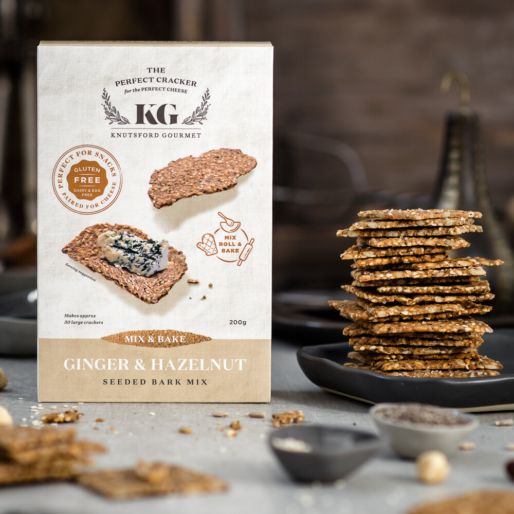 Mix & Bake Seeded, Ginger & Hazelnut Crackers - GLUTEN FREE