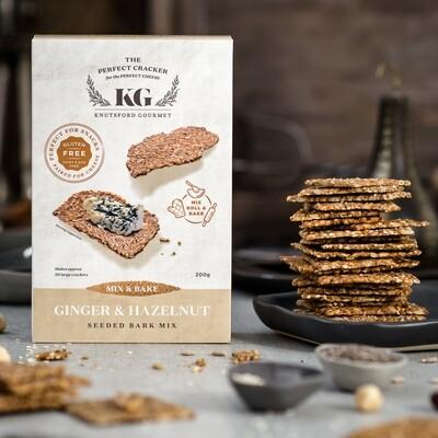 Ginger & Hazelnut Mix & Bake Seeded Crackers - GLUTEN FREE