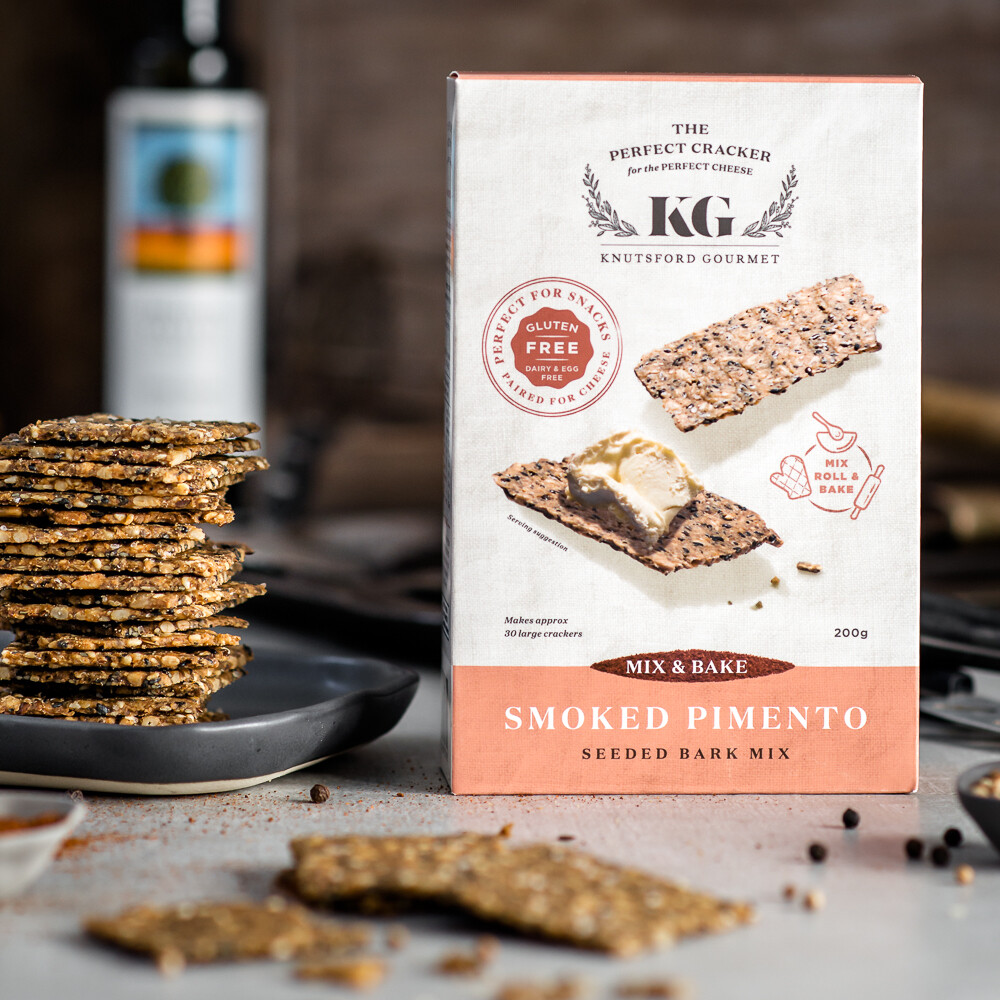 Smoked Pimento Mix & Bake Seeded Crackers - GLUTEN FREE