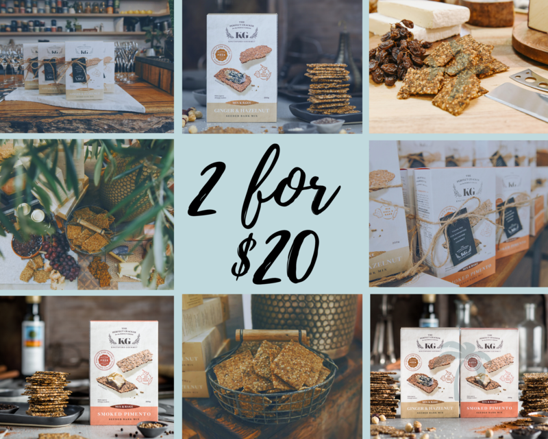 Any 2 for $20 Deal -  GLUTEN FREE Mix and Bake Seeded Crackers