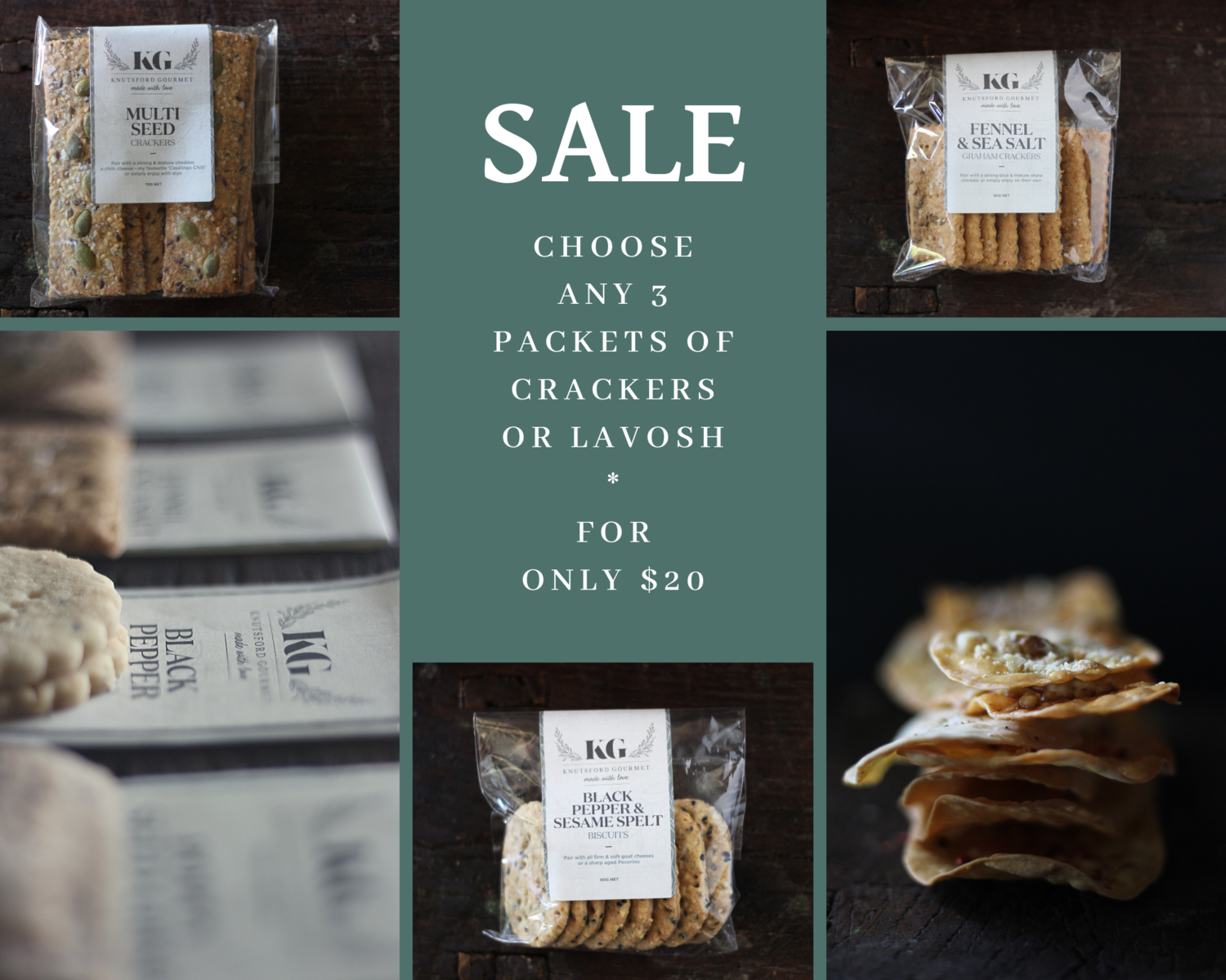 Any 4 Packets for $30