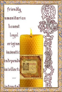 Aquarius - Spellbinding Zodiac Candle, $89