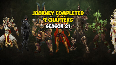 Journey Completed 9 Chapters Season 21 US