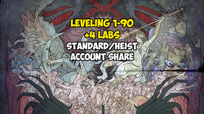 Leveling 1-90 + 4 LABS