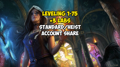Leveling 1-75 + 3 LABS