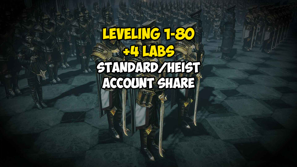 Leveling 1-80 + 4 LABS