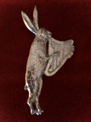 Pewter Hare Badge by Lionheart Replicas