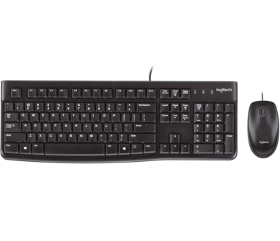 Logitech USB Wired Desktop MK120 Combo (Usb Keyboard+Usb Mouse)