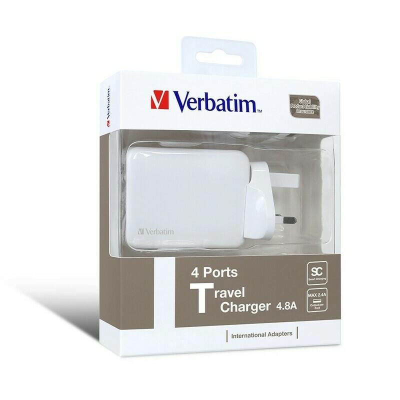 Verbatim 65124 - 4 Ports Travel Charger White
