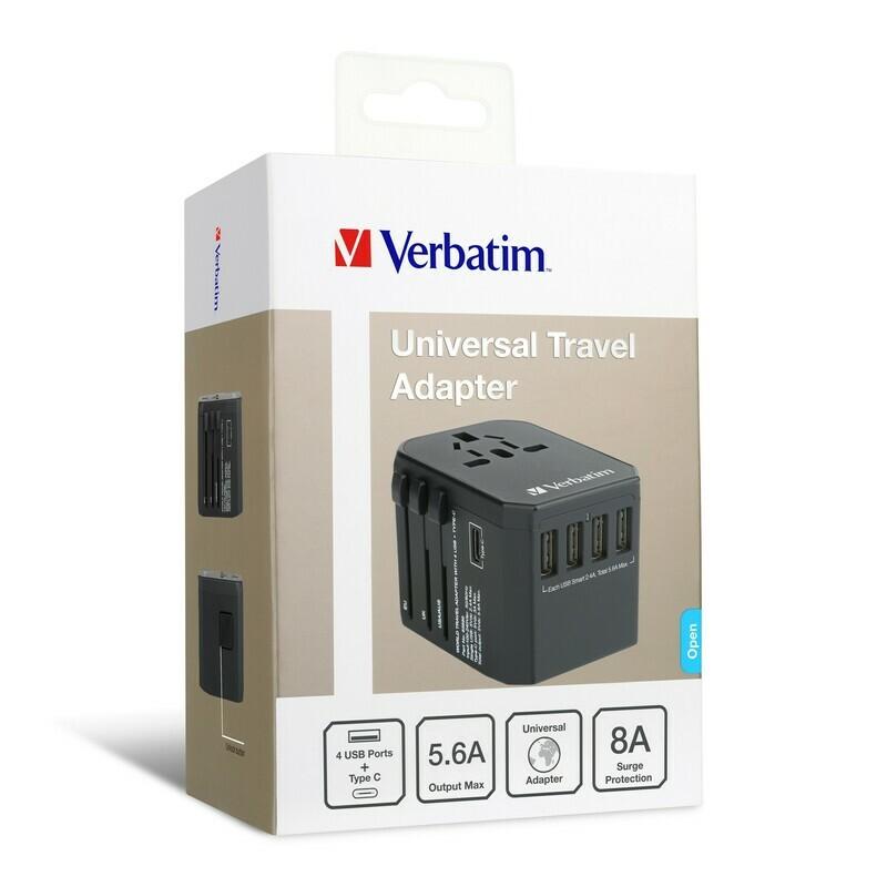 Verbatim 65686 5 Ports Travel Adapter- (Black)