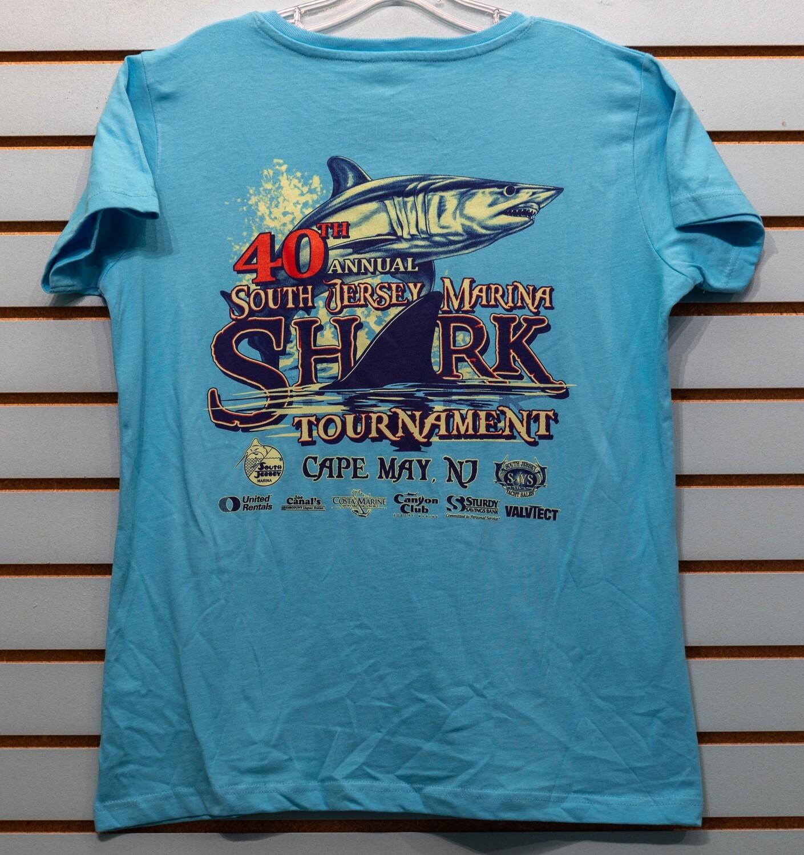 Shark Ladies V Neck Short Sleeve Tee