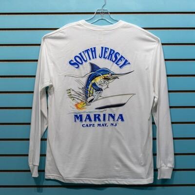 South Jersey Marina Cigar Marlin Long Sleeve Tee