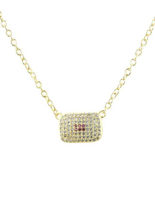 C784 Collar Chapa de Oro