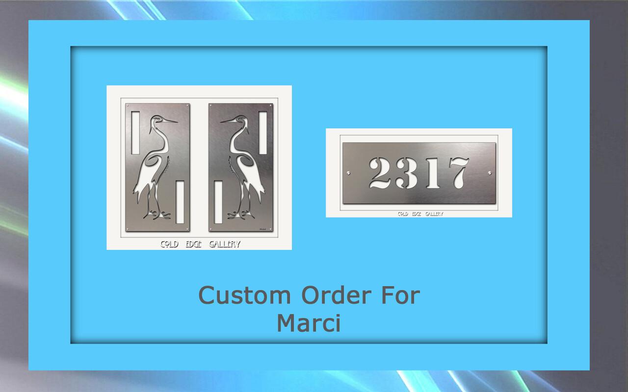 Custom order for Marci H.