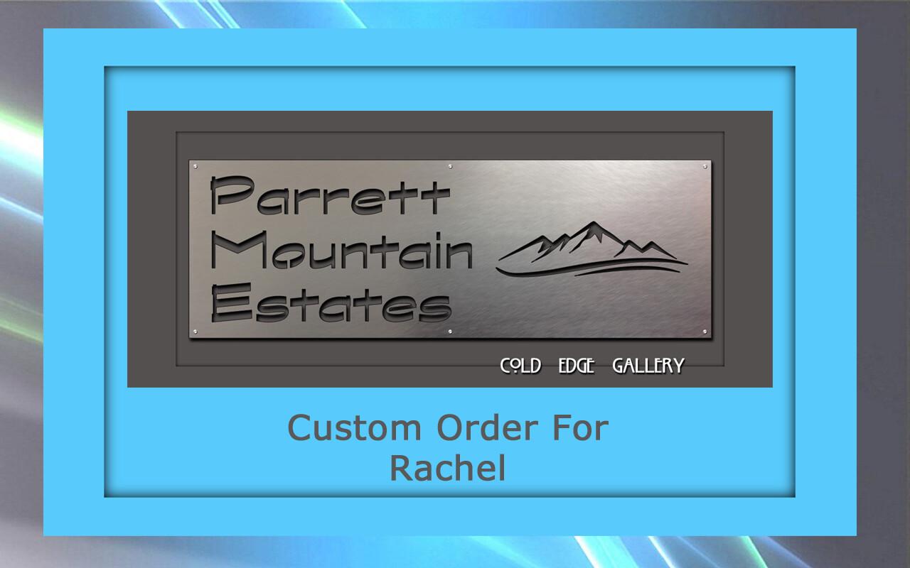 Custom order for Rachel S.