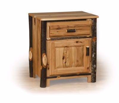 Hickory One Door One Drawer Nightstand
