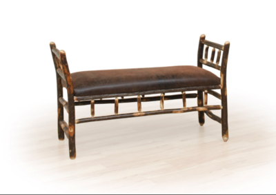 Hickory Arm Bench with Fabric